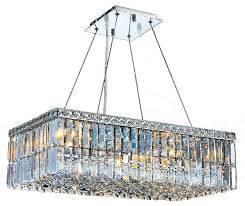 cascade 6 light chrome finish crystal chandelier 24 rectangle chandelier medium