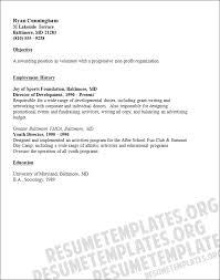 Volunteer Resume Sample Resume Template Pinterest