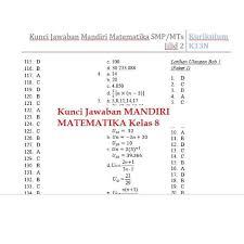 Sobat idschool dapat melihat ulasan materi lengkapnya melalui halaman yang diarahkan melalui link aktif di bawah. Jawaban Buku Mandiri Matematika Kelas 7 Kurikulum 2013 Ilmusosial Id