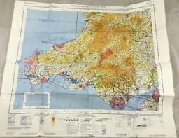 Details About 1966 Vintage Military Map Of South Wales Uk Topographical Chart Raf