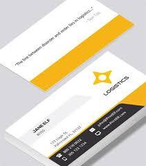 Free Design Business Cards Modern Contemporary Business Card Design Logistics Business
