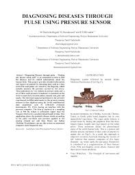 Pdf Diagnosing Diseases Through Pulse Using Pressure Sensor