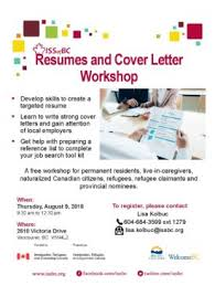 Resumes And Cover Letter Workshop | Career Development, Newcomer ...