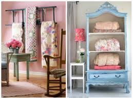 Quilts were Made for Summer & Moving inside the house, I loved these beautiful ways to display quilts. By  using soft colors and floral prints these are perfect summertime accents. Adamdwight.com