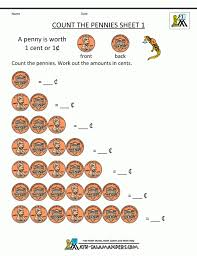 Free Math Money Worksheets 1st Grade Counting Count The Di ~ Koogra
