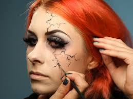 applying veins and s to your glam dark fairy look