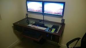 gaming pc desk build complete my diy computer desk buildapc