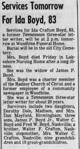 ida crafton boyd obit - Newspapers.com