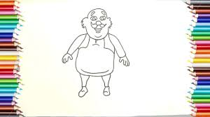 how to draw motu drawing and coloring pages for kids how to draw patlu step by step drawing book