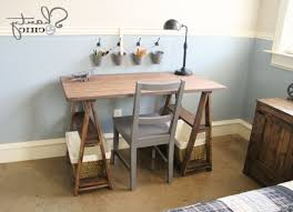 diy desk cost. Ana White | 1x3 Sawhorse Desk Diy Projects With Regard To Awesome Residence How Much Does A Cost Plan G