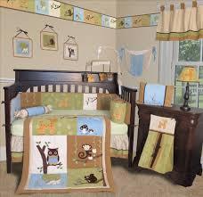 beautiful girl baby nursery room decoration with owl baby bedding divine zoo themed baby nursery