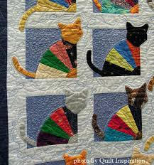 Cat Quilt Patterns Kits Fat Cat Quilt Patterns Cats Quilt Pattern ... & ... Patterns Cabin Cats Quilt The Crazy Cat Lady By Kaye Winalis 2014  Tucson Quilters Guild Show Closeup Photo By Quilt ... Adamdwight.com