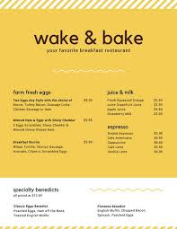 Breakfast Menu Template Beauteous Customize 48 Breakfast Menu Templates Online Canva