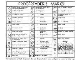Printable Editing Marks Chart Visual Codes Proofreaders Marks