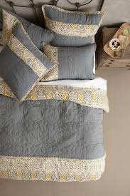 Sitara Grey and Yellow Quilt & Stitched Sitara Grey and Yellow Quilt Adamdwight.com