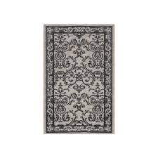 laura ashley halstead border gray jacquard chenille 2 ft x 3 ft textured area