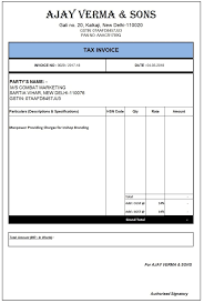 Gst Invoice Format In Excel Word Jpeg And Pdf File No 2