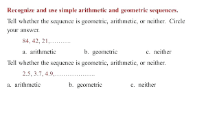 Arithmetic Sequence Worksheet Answers Geometric Sequences Worksheets Mikkospace Com