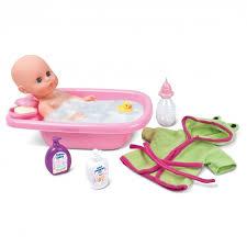 bambolina baby doll 33cm with bathing set with bathtub 1405