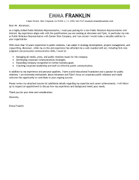 Leading Professional Public Relations Cover Letter Examples