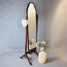 Antique Cheval Mirror Tall Dressing Swing Free Standing English with regard  to Free Standing Dressing Mirrors