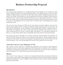 Partnership Proposal Samples 6 Business Partnership Proposal Letter Company Of Intent