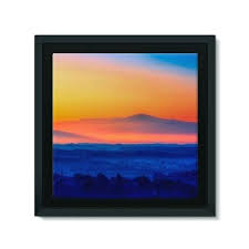 sunset wall art sky with mountain sunset framed canvas wall dr sunset beach canvas wall art