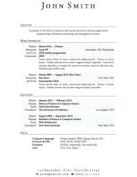 High School Resume Template For College Resumes For Students Free