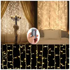 Battery Operated Net Lights With Timer Battery Operated Curtain String Lights 300 Led Icicle Window