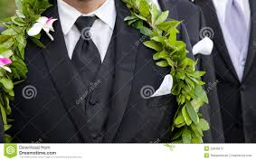 Groom S Flowers Hawaiian Wedding Stock Photo Image 35845872