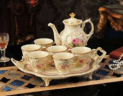 Decorative Cups And Saucers TSP60 Decorative Wedding Gifts Bone China CoffeeTea Teapot Cup 45