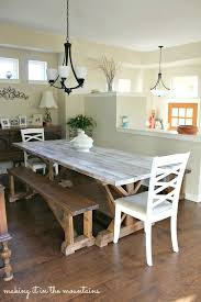 mesmerizing whitewash dining room table delightful stylish white wash dining room table how to whitewash wood making over our pottery barn inspired white