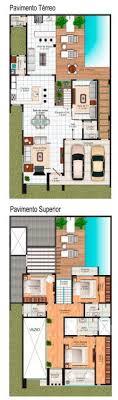 Planta de casa térrea com 2 quartos, 2 vagas na garagem, edícula e piscina. 50 Casas Com Piscina Projetos Dicas E Fotos