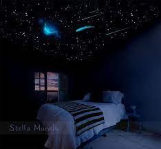 glow in the dark star ceiling moon