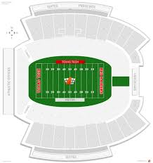 Texas Tech Jones Stadium Seating Chart Jones At T Stadium Texas Tech Seating Guide