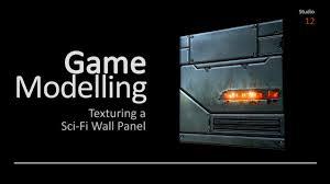 Texturing a Sci Fi Wall Panel with Adobe Photoshop Autodesk Maya