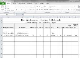 Excel Guest List Wedding List Excel Tirevi Fontanacountryinn Com