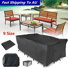 details about 9 size waterproof outdoor patio garden furniture cover rain snow uv table chair