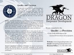 dragon deepwater development inc linkedin quality and precision png