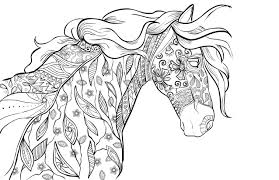 Small Picture Horse Coloring Pages For Adults Inside itgodme