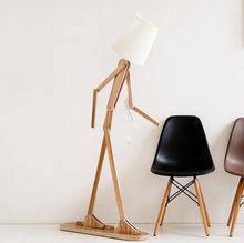 nordic <b>wooden floor lamp</b>