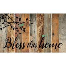 bless this home barn board wall art
