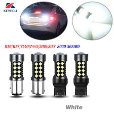 3156 Led Backup Light Bulbs Keyecu 2x White 1156 1157 3156 3157 7440 7443 36smd 3030 Extremely Bright Led Bulbs 36w 10 30v Works As Reverse Backup Light In Signal Lamp From