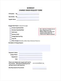Purchase Order Request Form 24 Change Order Request Form Samples Free Samples Examples Format 23