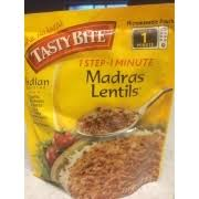 tasty bite madras lentils nutrition