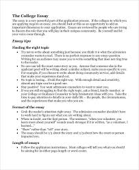 College Essay Examples For Admission Under Fontanacountryinn Com