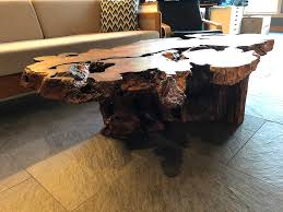 decorating with redwood tree stumps