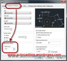 autocad dimension text size dimbreak break dimension lines autocad tips