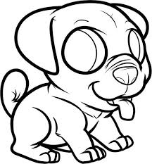 Pug Dog Coloring Pages Color Bros