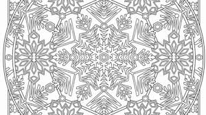 Snowflake Mandala Coloring Page Coloring Page Book For Kids